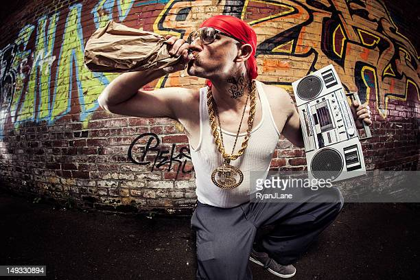 hardcore gangsta rapper - rap stock pictures, royalty-free photos & images
