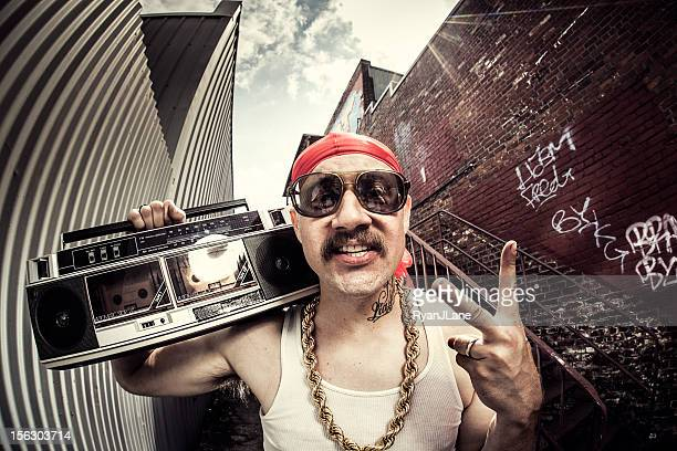 hardcore gangsta rapper - bling bling stock pictures, royalty-free photos & images