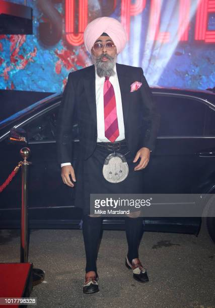 Hardeep Singh Kohli enters the Celebrity Big Brother house at Elstree Studios on August 16 2018 in Borehamwood England
