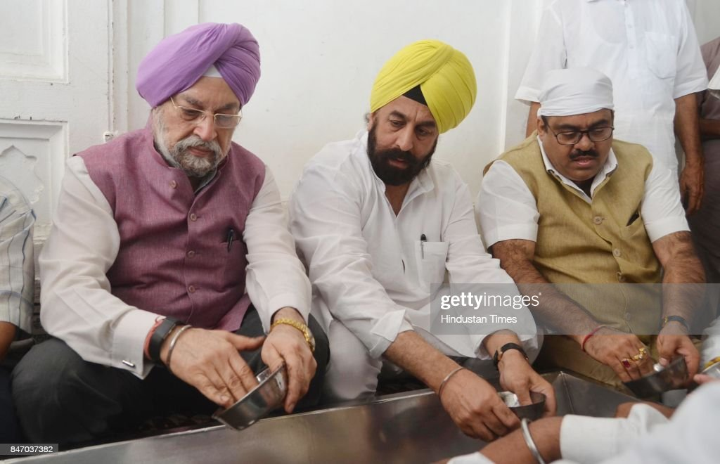 Hardeep Singh Puri Minister of State in the Ministry of Housing and Urban Affairs with BJP leader RP Singh and Tarun Chugh BJP Nation Secretary...