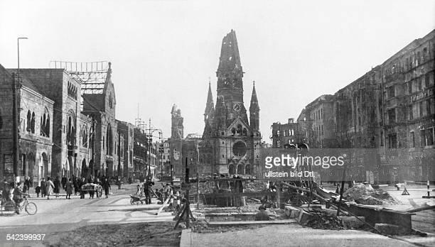 Hardenbergstrasse and Kaiser Wilhelm Memorial Church in Berlin