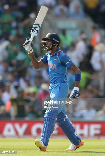 Hardik Pandya of India after being run out during the ICC Champions Trophy final match between India and Pakistan at the Kia Oval cricket ground on...