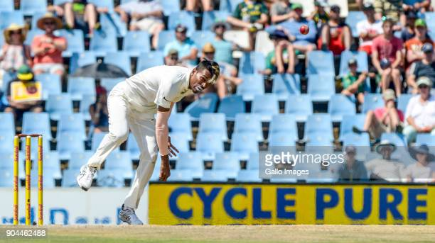 Hardik Pandya of India during day 1 of the 2nd Sunfoil Test match between South Africa and India at SuperSport Park on January 13 2018 in Pretoria...