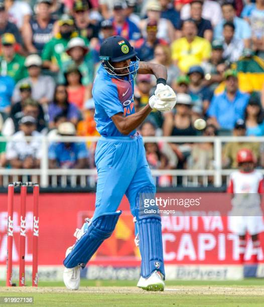 Hardik Pandya of India during the 1st KFC T20 International match between South Africa and India at Bidvest Wanderers Stadium on February 18 2018 in...