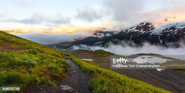 harding icefield trail alaska - kenai mountains stock pictures, royalty-free photos & images