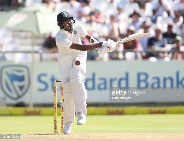 Hardrik Pandya during day 2 of the 1st Sunfoil Test match between South Africa and India at PPC Newlands on January 06 2018 in Cape Town South Africa