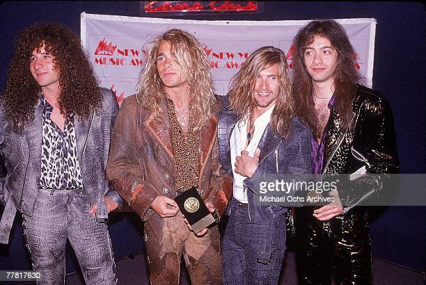 Hardrock group White Lion pose for a portrait at the New York Music Awards where they won 2 trophies in 1988 in New York City New York Greg D'Angelo...