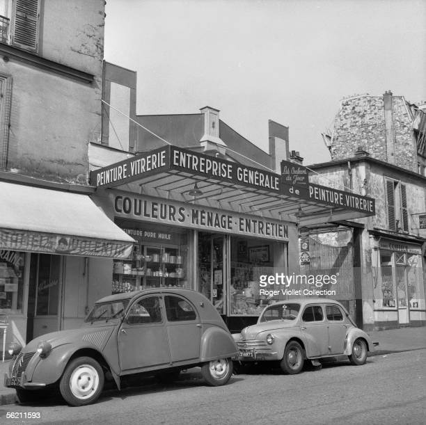 Hardware dealer in the parisian suburbs about 1960