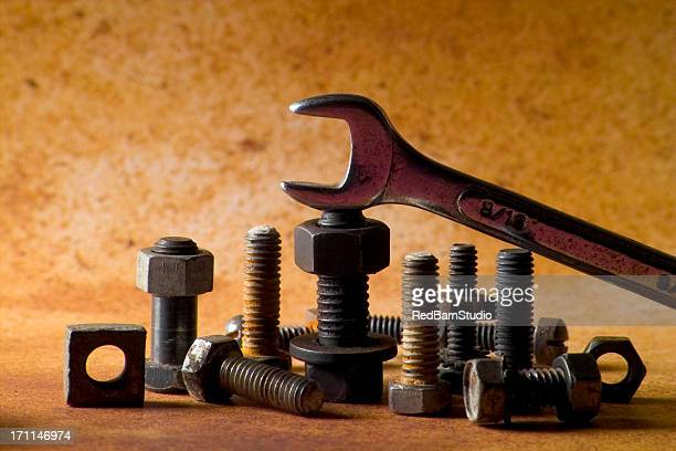 hardware - nut fastener stock photos and pictures