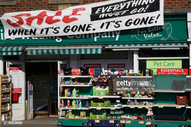 Hardware store sells goods as the streets of Whitby remain empty as visitors observe the guidelines during the Coronavirus pandemic lockdown on April...