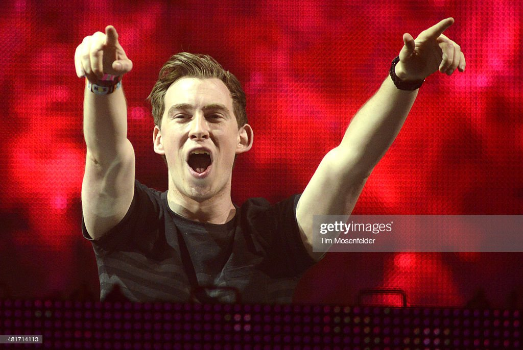 Hardwell performs during the Ultra Music Festival at Bayfront Park Amphitheater on March 30, 2014 in Miami, Florida.