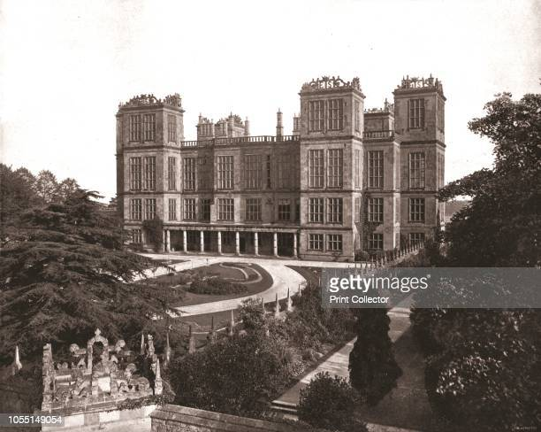 Hardwick Hall Derbyshire 1894 The Hall was the home of Bess of Hardwick one of the wealthiest women in Elizabethan England It was designed by the...