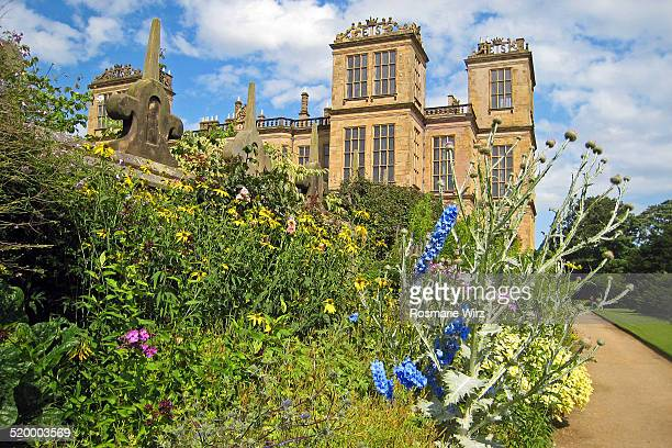 hardwick hall, derbyshire - grounds stock pictures, royalty-free photos & images