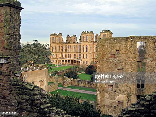 Hardwick New Hall Derbyshire 2009 View towards Hardwick New Hall from the Old Hall Hardwick New Hall was the home of Bess of Hardwick one of the...