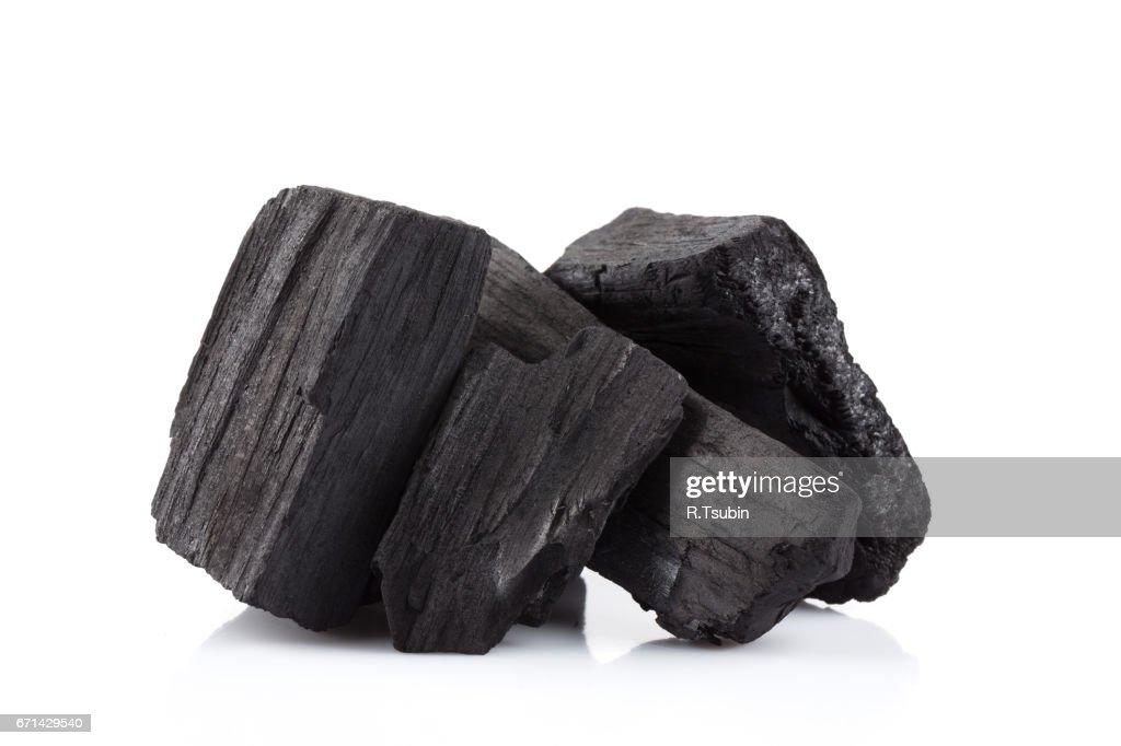 hardwood charcoal coal : Stock Photo