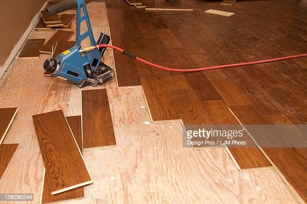 hardwood installation for a home renovation