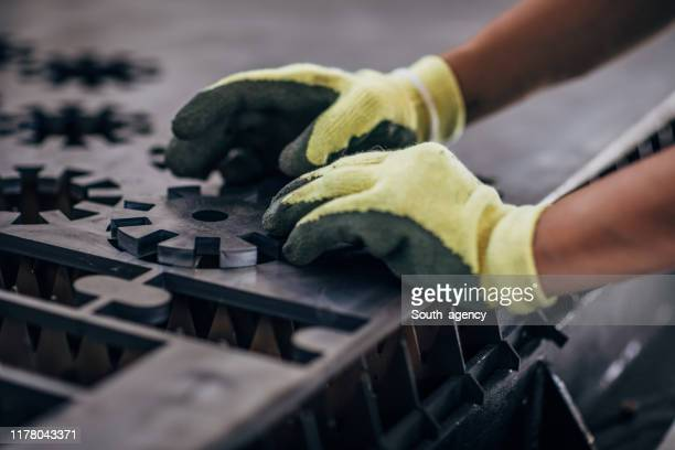 hardworking hands - work glove stock pictures, royalty-free photos & images