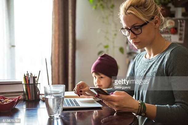 Hard-working young mother