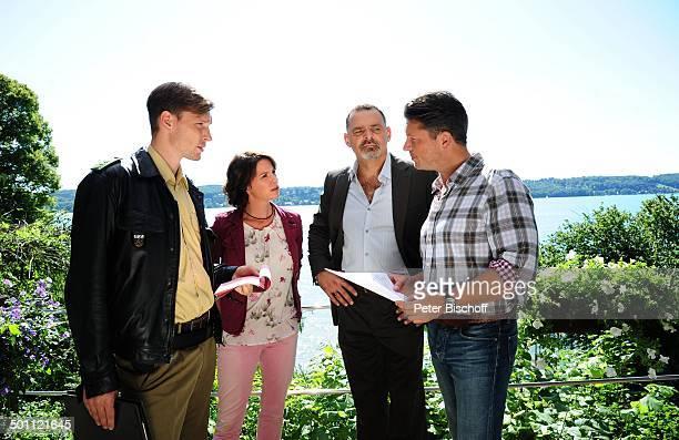 Hardy Krüger jun Gisa Zach Ferenc Graefe Florian Fitz ZDFSerie Forsthaus Falkenau 24 Staffel Folge Schatten der Vergangenheit am Starnberger See...
