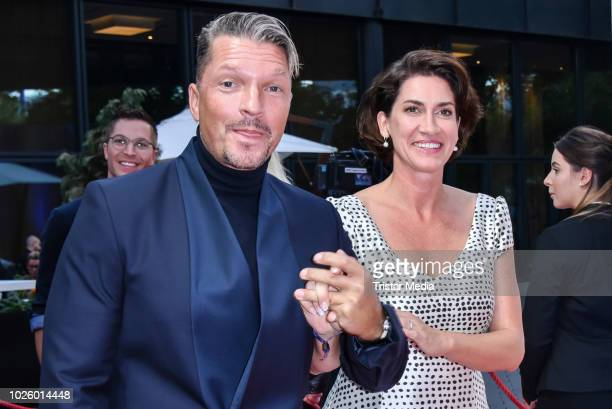 Hardy Krueger and his wife Alice Krueger during the Mazda Entertainment Night at Sheraton Berlin Grand Hotel Esplanade on August 31 2018 in Berlin...
