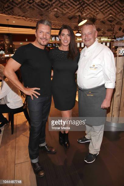 Hardy Krueger jr Alice Krueger and Harry Schulz during the charity event 'Food for Good' to celebrate the first anniversary of Food Sky at Europa...