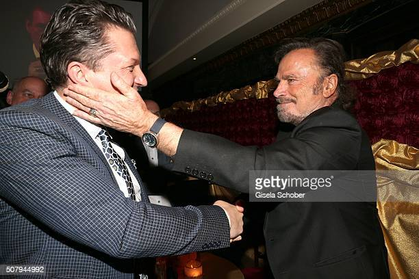 Hardy Krueger jr and Franco Nero did some movies with Hardy Krueger father of Hardy Krueger jr during the Lambertz Monday Night 2016 at Alter...