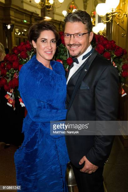 Hardy Krueger Jr and his new partner Alice Roessler during the Semper Opera Ball 2018 at Semperoper on January 26 2018 in Dresden Germany