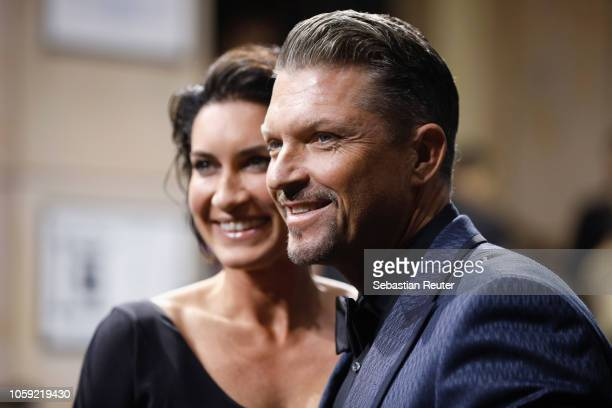 Hardy Krueger jr and his wife Alice Krueger arrive for the 20th GQ Men of the Year Award at Komische Oper on November 8 2018 in Berlin Germany