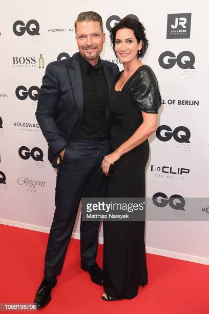 Hardy Krueger jr and his wife Alice Krueger arrives for the 20th GQ Men of the Year Award at Komische Oper on November 8 2018 in Berlin Germany