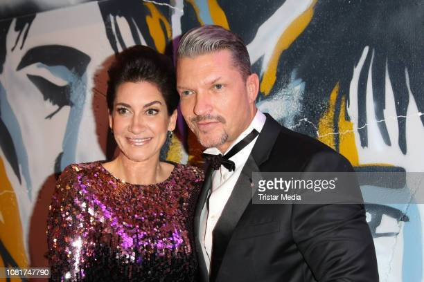 Hardy Krueger jr and his wife Alice Krueger attend the 118th Berlin Press Ball on January 12 2019 in Berlin Germany