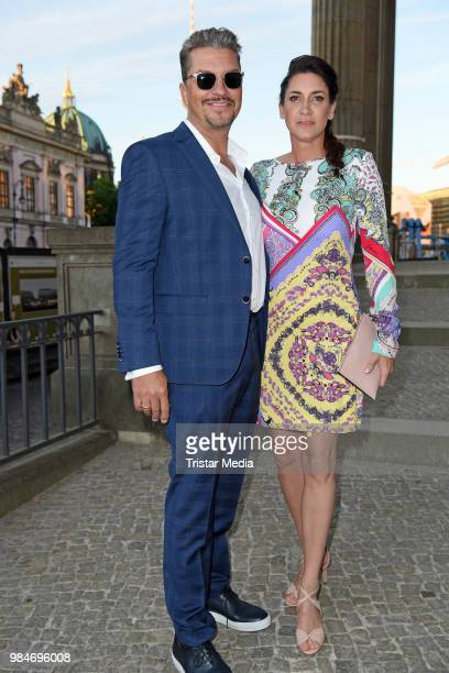 Hardy Krueger Jr and his wife Alice Krueger attend the BURDA Summer Party on June 26 2018 in Berlin Germany