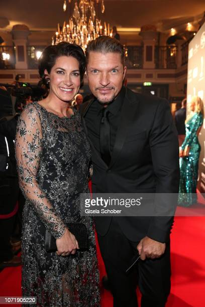 Hardy Krueger jr and his wife Alice Krueger during the Audi Generation Award 2018 at Hotel Bayerischer Hof on December 11 2018 in Munich Germany