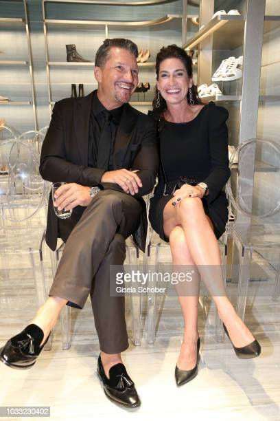 Hardy Krueger Jr and his wife Alice Krueger during the Boutique Trunk Show Giorgio's on September 13 2018 in Munich Germany