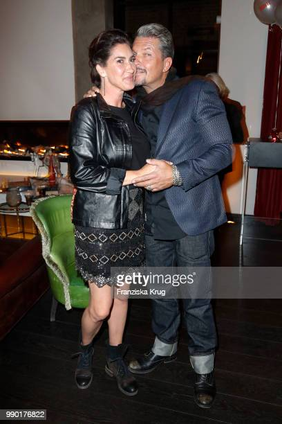 Hardy Krueger jr and his wife Alice Krueger during the Bunte New Faces Night at Grace Hotel Zoo on July 2 2018 in Berlin Germany