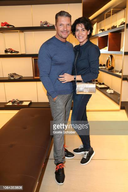 Hardy Krueger Jr and his wife Alice Krueger during the Hogan Munich BTQ Cocktail on November 22 2018 at the Hogan Boutique in Munich Germany
