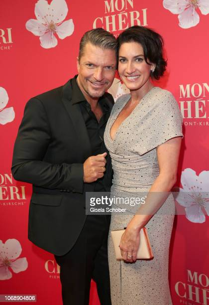 Hardy Krueger jr and his wife Alice Krueger during the Mon Cheri Barbara Tag at Alte Bayerische Staatsbank on December 4 2018 in Munich Germany
