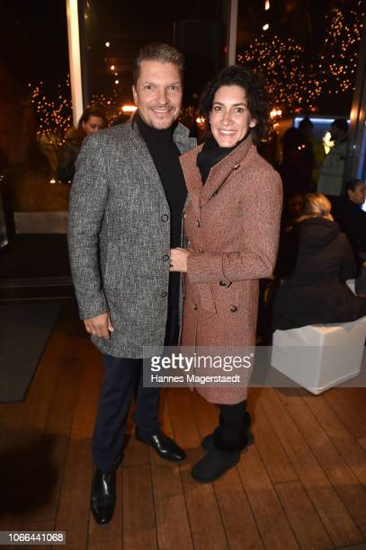 Hardy Krueger Jr and his wife Alice Krueger during the Polar Bar Opening at Hotel Bayerischer Hof on November 29 2018 in Munich Germany