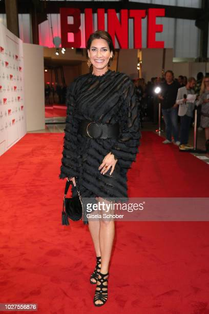 Hardy Krueger jr wife Alice Krueger wearing a black dress by Aigner during the New Faces Award Show 2018 at Sammlung Philara on August 29 2018 in...