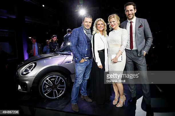 Hardy Krueger jun Michaela Portner Eva Habermann and Alexander Mazza attend the premiere of the new MINI Clubman on October 29 2015 in Munich Germany