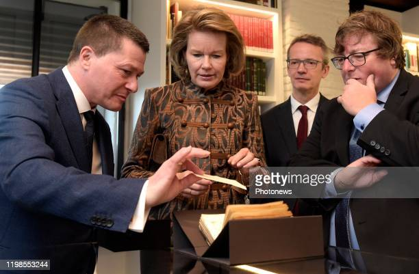 Hare Majesteit Koningin Mathilde brengt een bezoek aan de Alamire Stichting Huis van de Polyfonie gelegen in de Abdij van Park te Heverlee De...