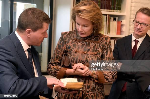 Hare Majesteit Koningin Mathilde brengt een bezoek aan de Alamire Stichting Huis van de Polyfonie gelegen in de Abdij van Park te Heverlee. De...