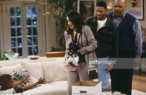 AIR THE Hare Today Episode 18 Pictured Ross Bagley as Nicky Banks Karyn Parsons as Hilary Banks Will Smith as William 'Will' Smith James Avery as...