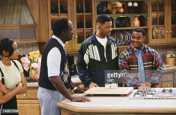 AIR THE 'Hare Today' Episode 18 Pictured Tatyana Ali as Ashley Banks Richard Roundtree as Rev Gordon Sims Will Smith as William 'Will' Smith Alfonso...