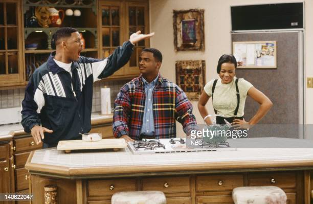 AIR THE Hare Today Episode 18 Pictured Will Smith as William 'Will' Smith Alfonso Ribeiro as Carlton Banks Tatyana Ali as Ashley Banks Photo by Chris...