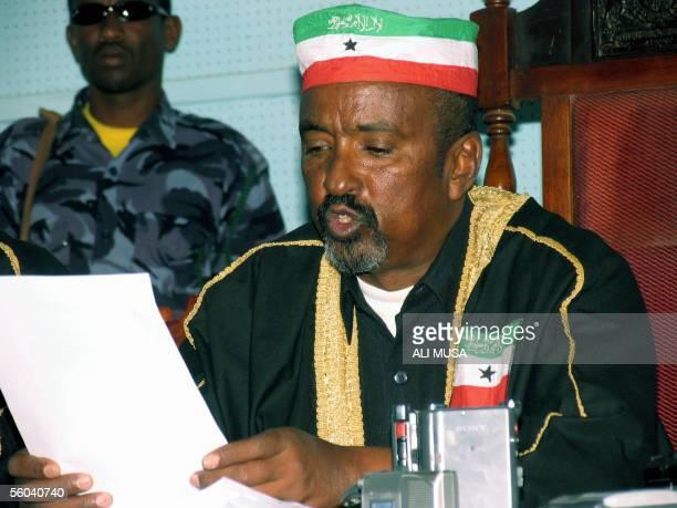 Judge Mohamed Farah reads results of legislative elections 01 November 2005 in Somaliland The ruling party in Somalia's breakaway republic of...