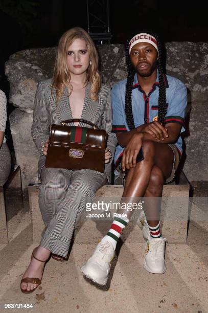 Hari Nef and Jeremy O Harris attend the Gucci Cruise 2019 show at Alyscamps on May 30 2018 in Arles France