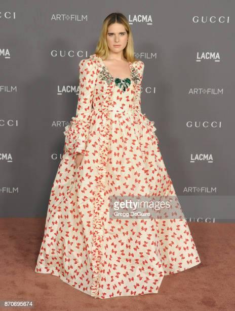 Hari Nef arrives at the 2017 LACMA Art + Film Gala honoring Mark Bradford and George Lucas at LACMA on November 4, 2017 in Los Angeles, California.