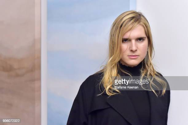 Hari Nef attends FENDI x Flaunt Celebrate The New Fantasy Issue at Casa Perfect on March 21, 2018 in Beverly Hills, California.