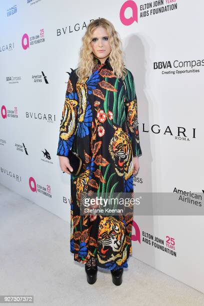 Hari Nef attends the 26th annual Elton John AIDS Foundation Academy Awards Viewing Party sponsored by Bulgari, celebrating EJAF and the 90th Academy...