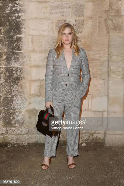 Hari Nef attends the Gucci Cruise 2019 show at Alyscamps on May 30 2018 in Arles France